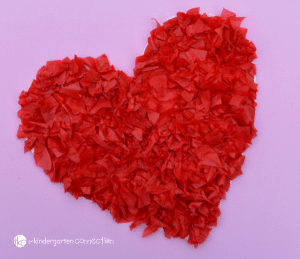 Tissue Paper Valentine Heart Kid Craft