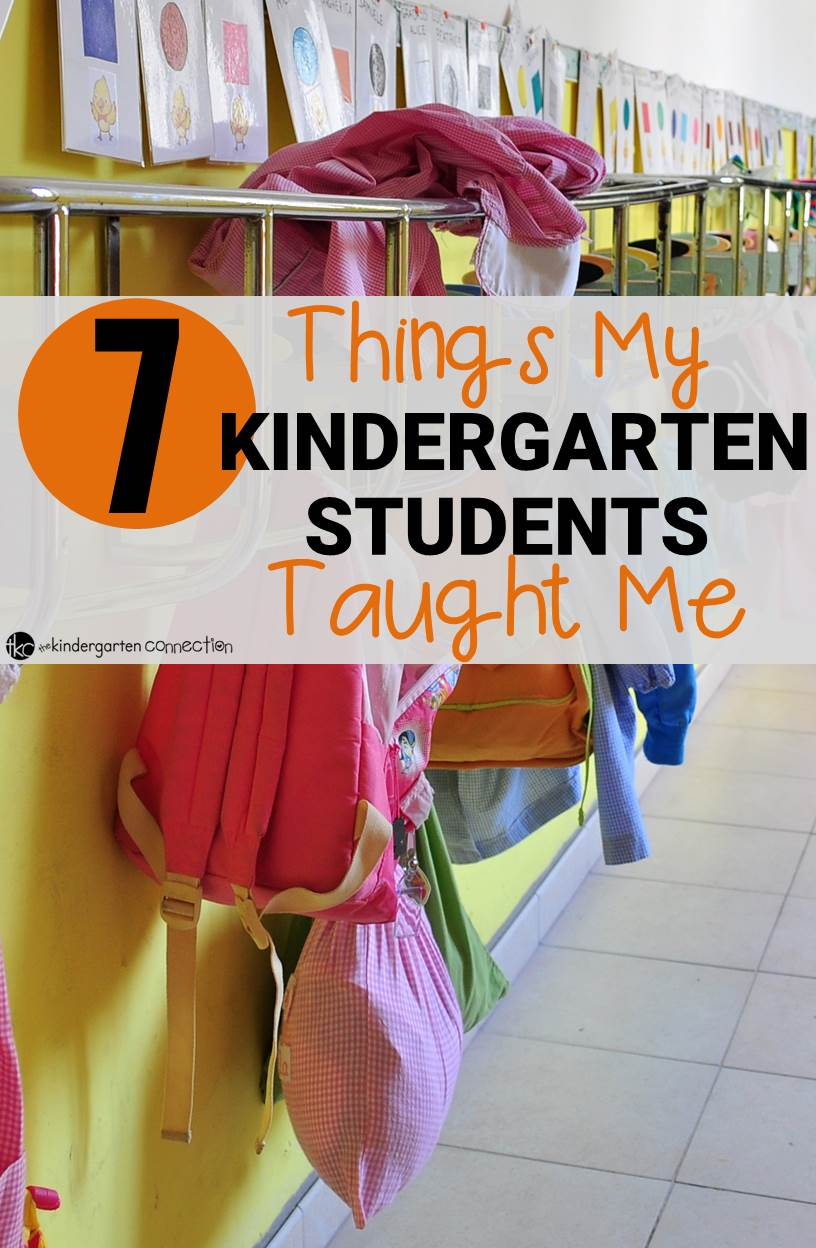 What lessons have you learned from your students? This is a great look into lessons that kindergarten students have taught their teacher and how we can learn important lessons from even the youngest students.
