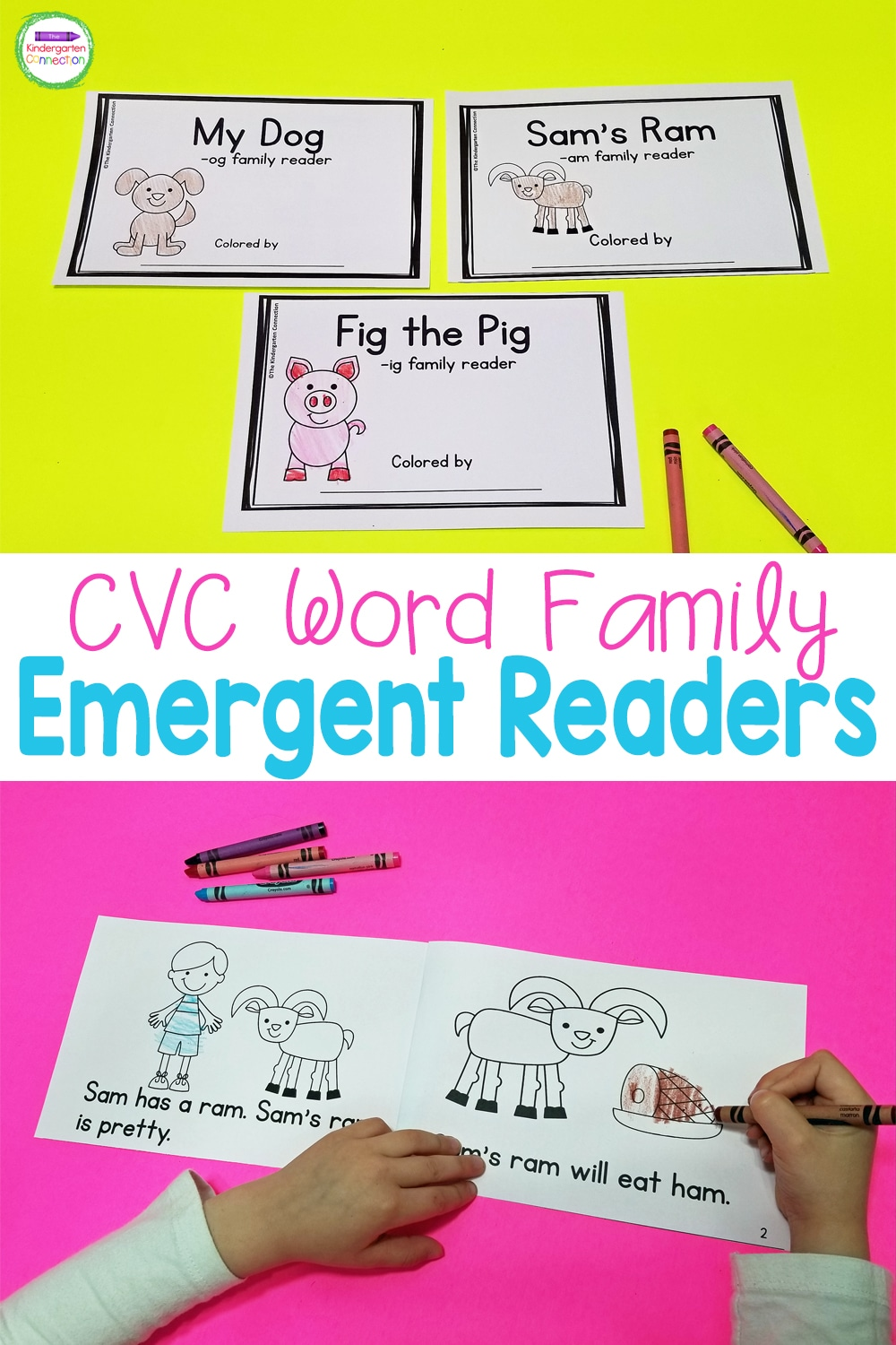 Build fluency and confidence with these 21 CVC Word Family Emergent Readers! Just print, staple, and you're ready to read!