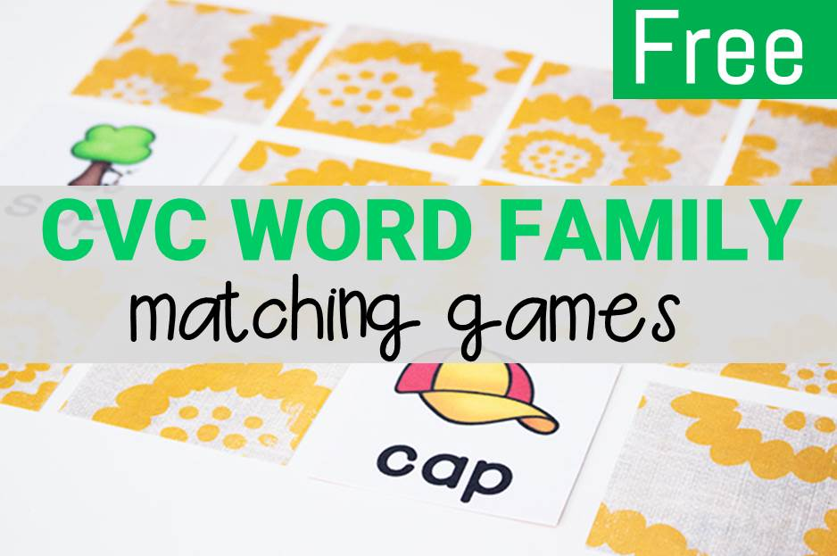 CVC Rhyming Words Matching Games
