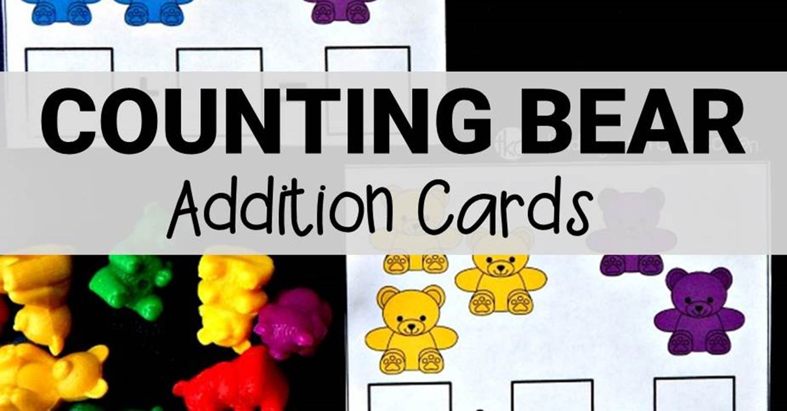 Counting Bear Addition Cards The Kindergarten Connection