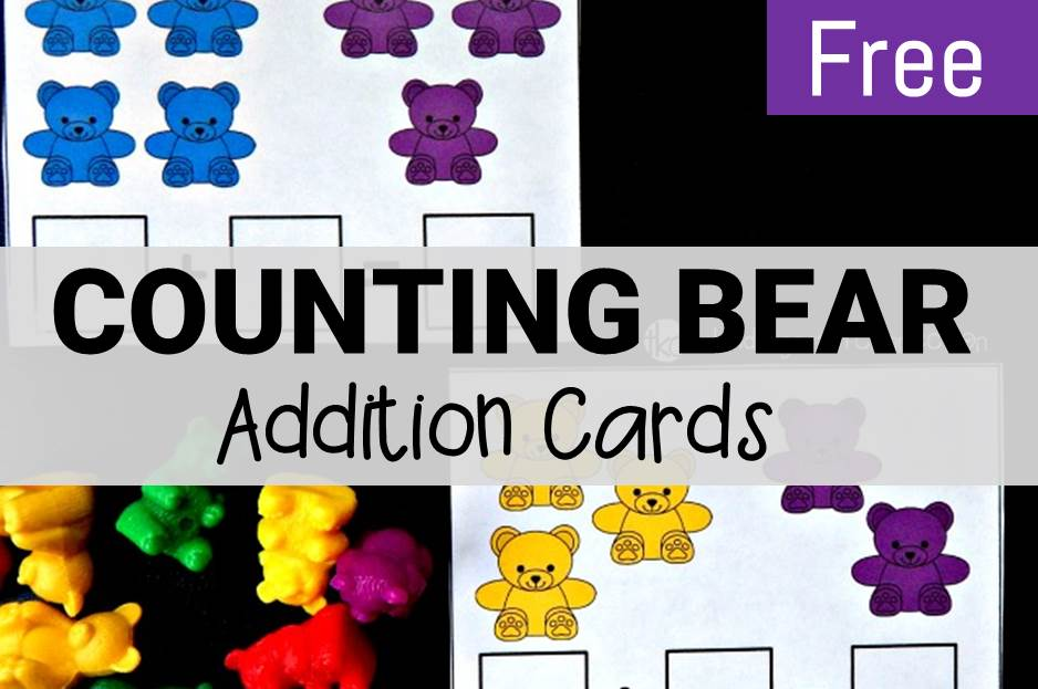 Counting bear addition cards main image