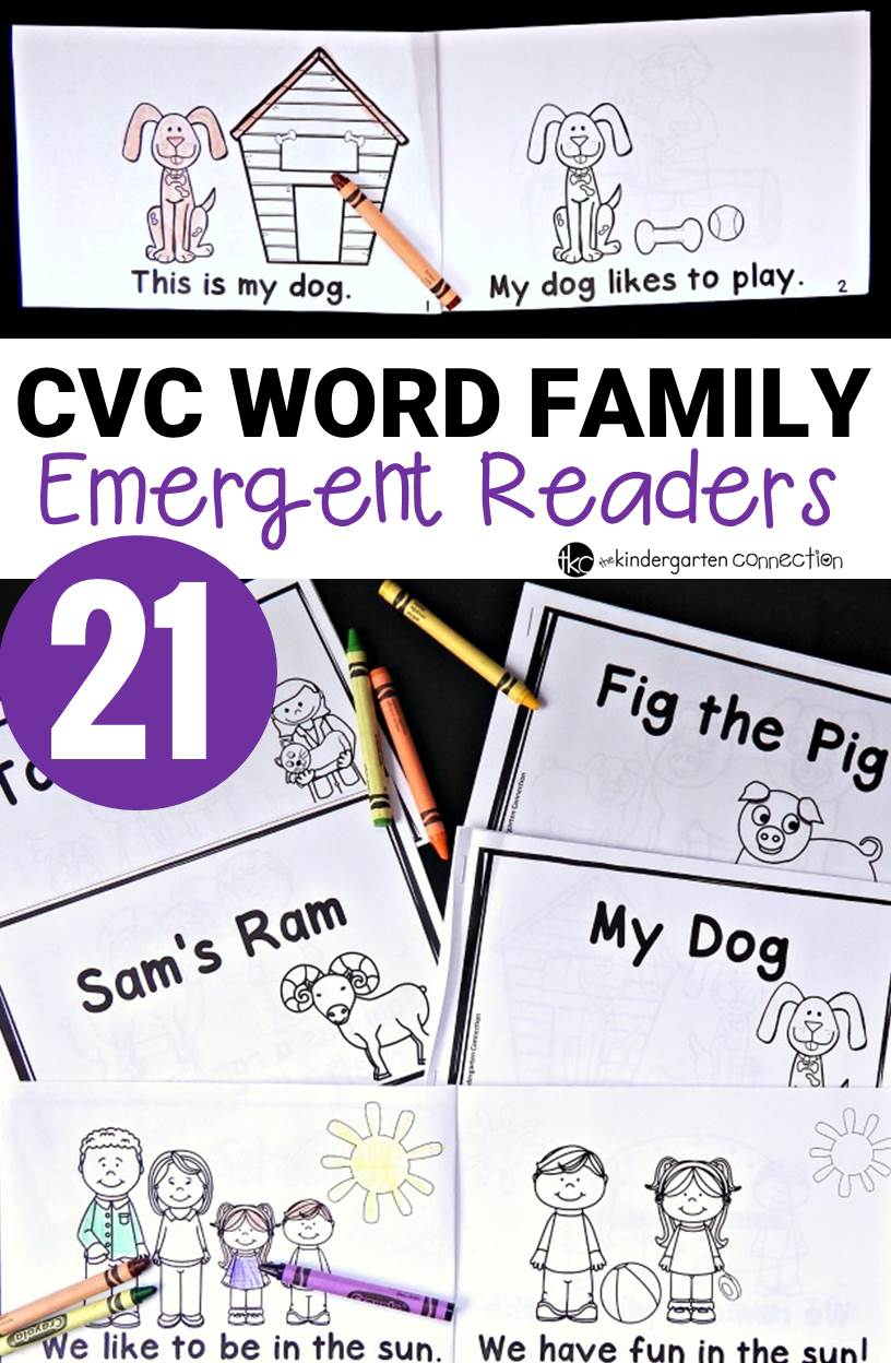 CVC Word Family Emergent Readers!