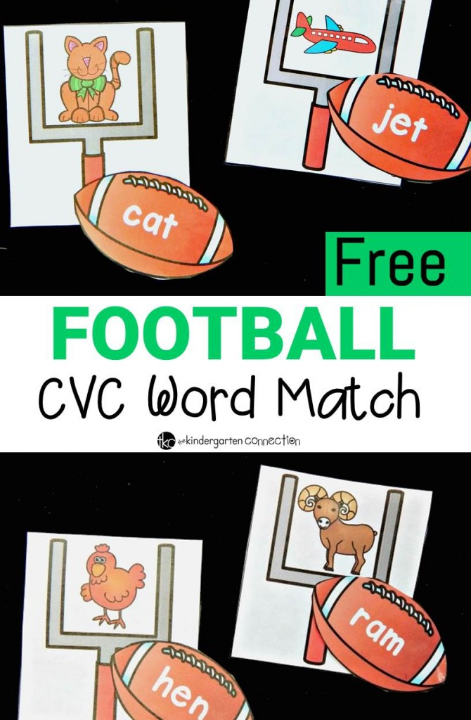 This football CVC word game is perfect for any early reader - especially ones who love football!