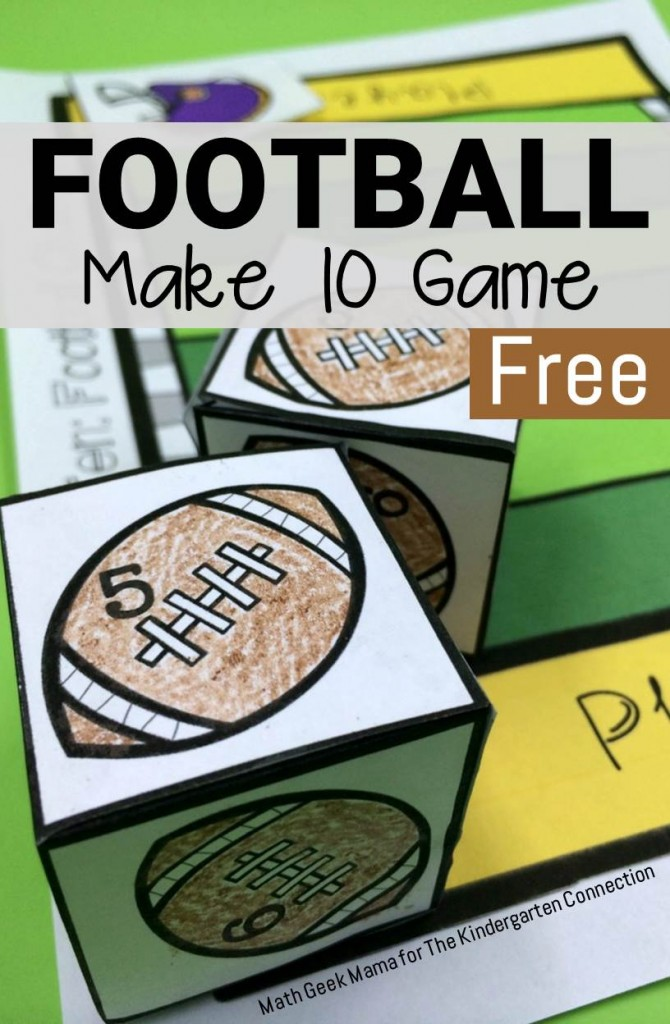This football make 10 game is super fun for working on addition!