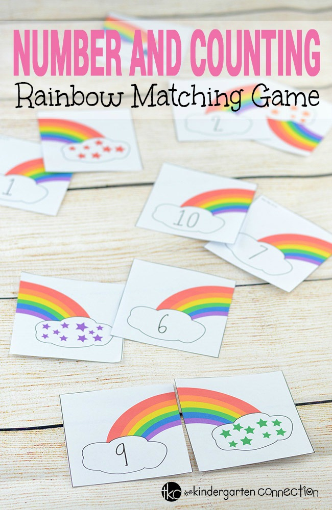 Work on numbers and counting with these super fun rainbow counting number puzzles! Match the sets together, play as a memory game, and more! Perfect for St. Patrick's Day, spring, or anytime!
