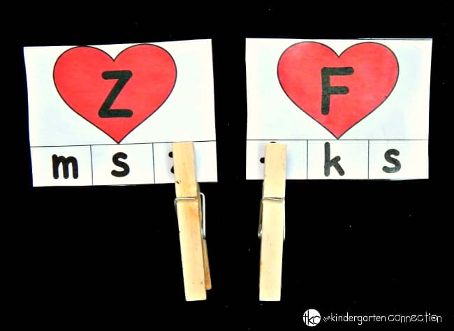This alphabet matching game is perfect for Valentine's Day! Work on matching upper and lowercase letters while working on fine motor too!