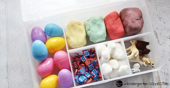 EASTER playdough kit - big enough for a classroom and with so many ways to play and learn