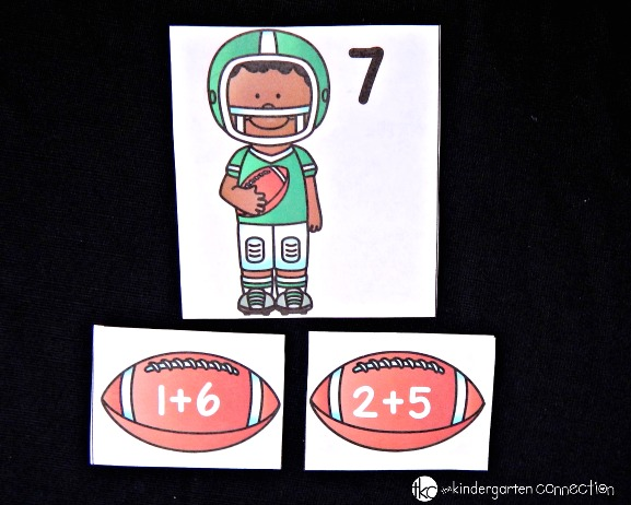 This super fun addition game is perfect for any little football fans!. Great for around the superbowl or anytime!