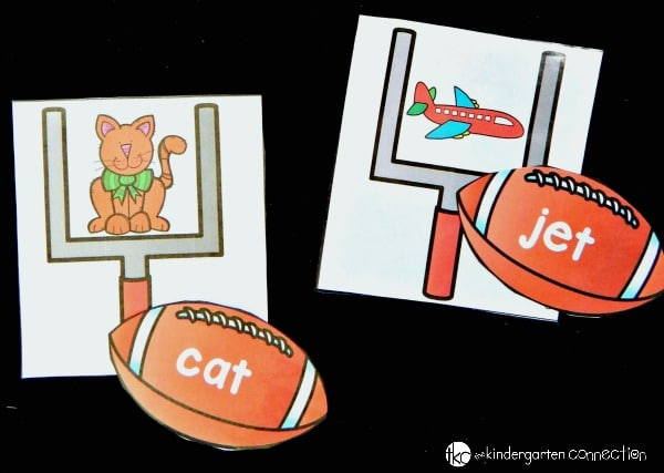 This CVC word game is perfect for any early reader - especially ones who love football!