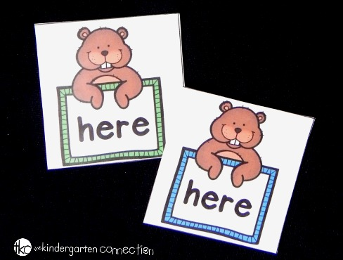 Groundhog Sight Word Matching Game - The Kindergarten Connection