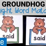 Groundhog Sight Word Matching Game