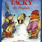 Tacky the Penguin tells the story of a bird that at first doesn't fit in but finds friends that appreciate his odd quirks.