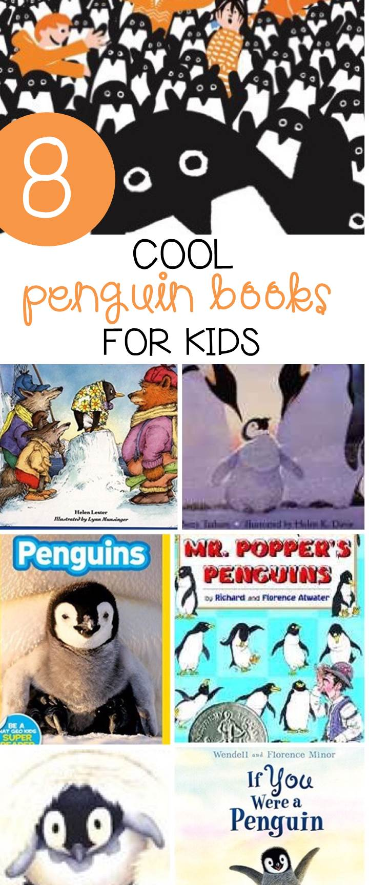 These awesome penguin books for kids are so fun for winter read alouds or as supplements to penguin activities in the classroom!