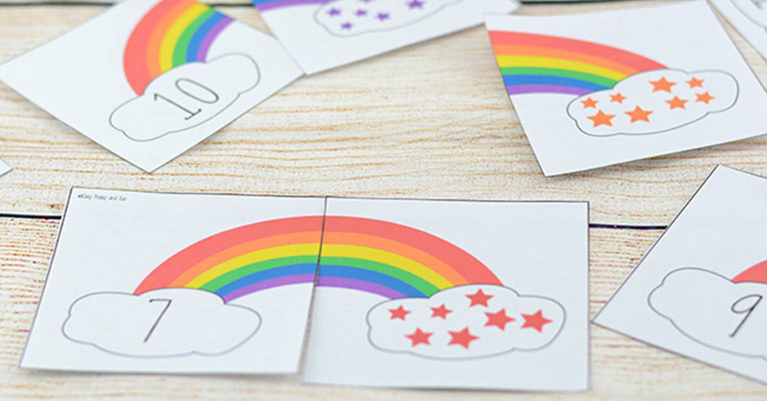 Rainbow Counting Number Puzzles Fb on kindergarten math worksheets can go