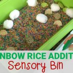 Rainbow Rice Addition Sensory Bin