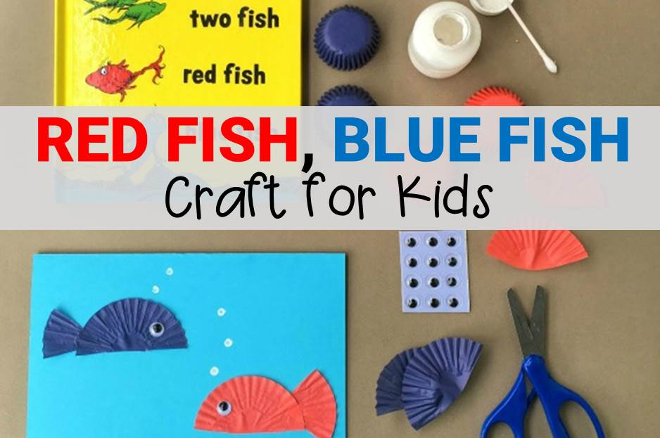 red fish blue fish craft for kids