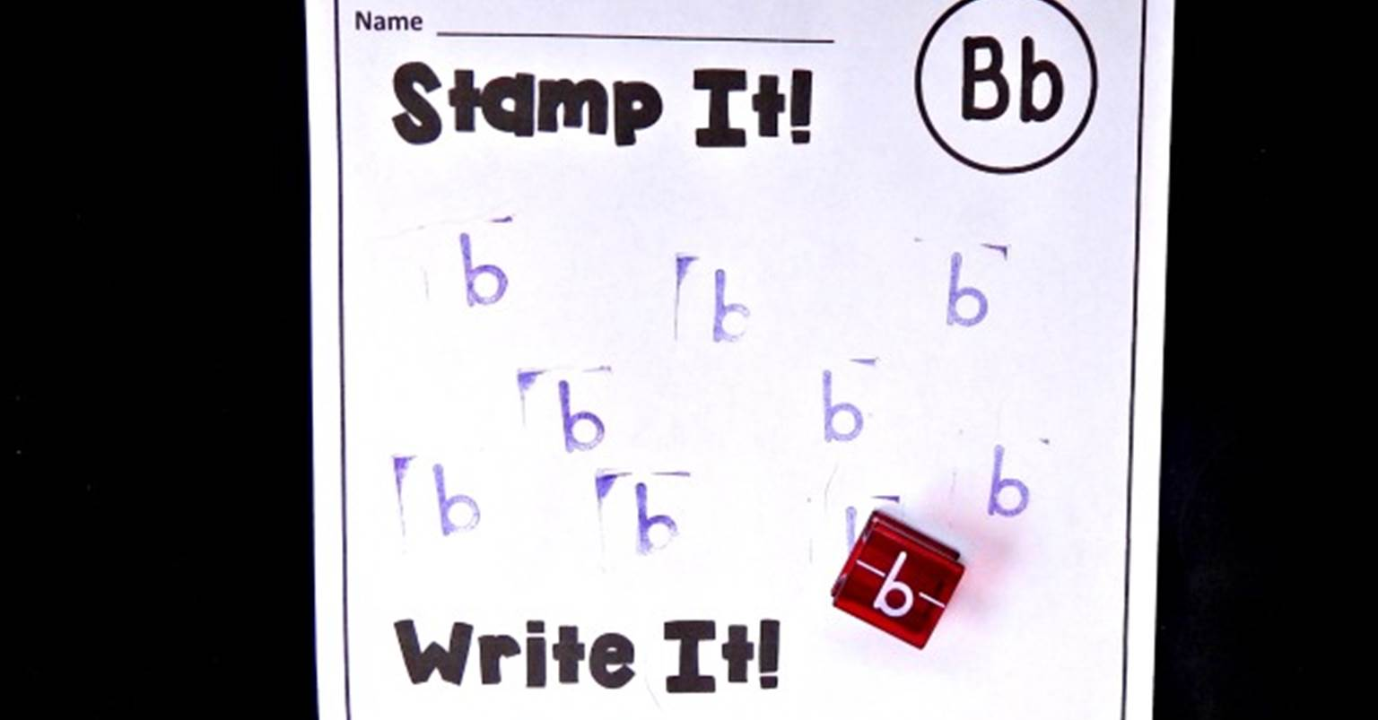 Alphabet Stamp Handwriting Pages The Kindergarten Connection