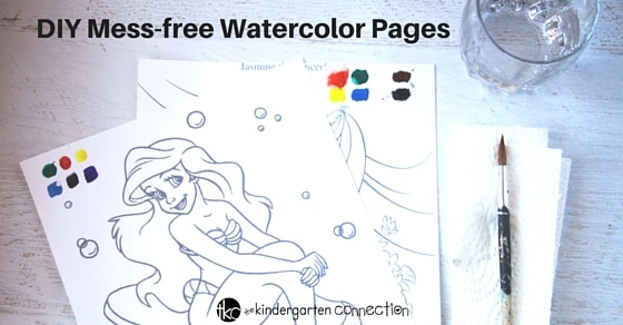 diy magic watercolor painting sheets are a great quiet time activity or mess free art - Painting Sheets