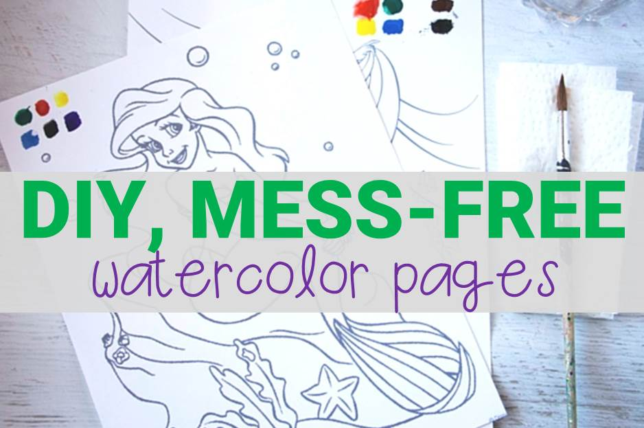 DIY Magic Watercolor Painting Sheets