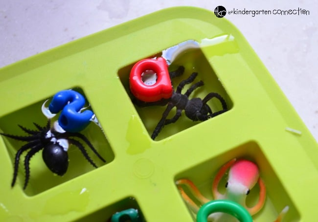 This ice science experiment for kids is so fun, and doubles as a beginning sounds activity too! Conduct your experiment, work on letter sounds, and have a blast!