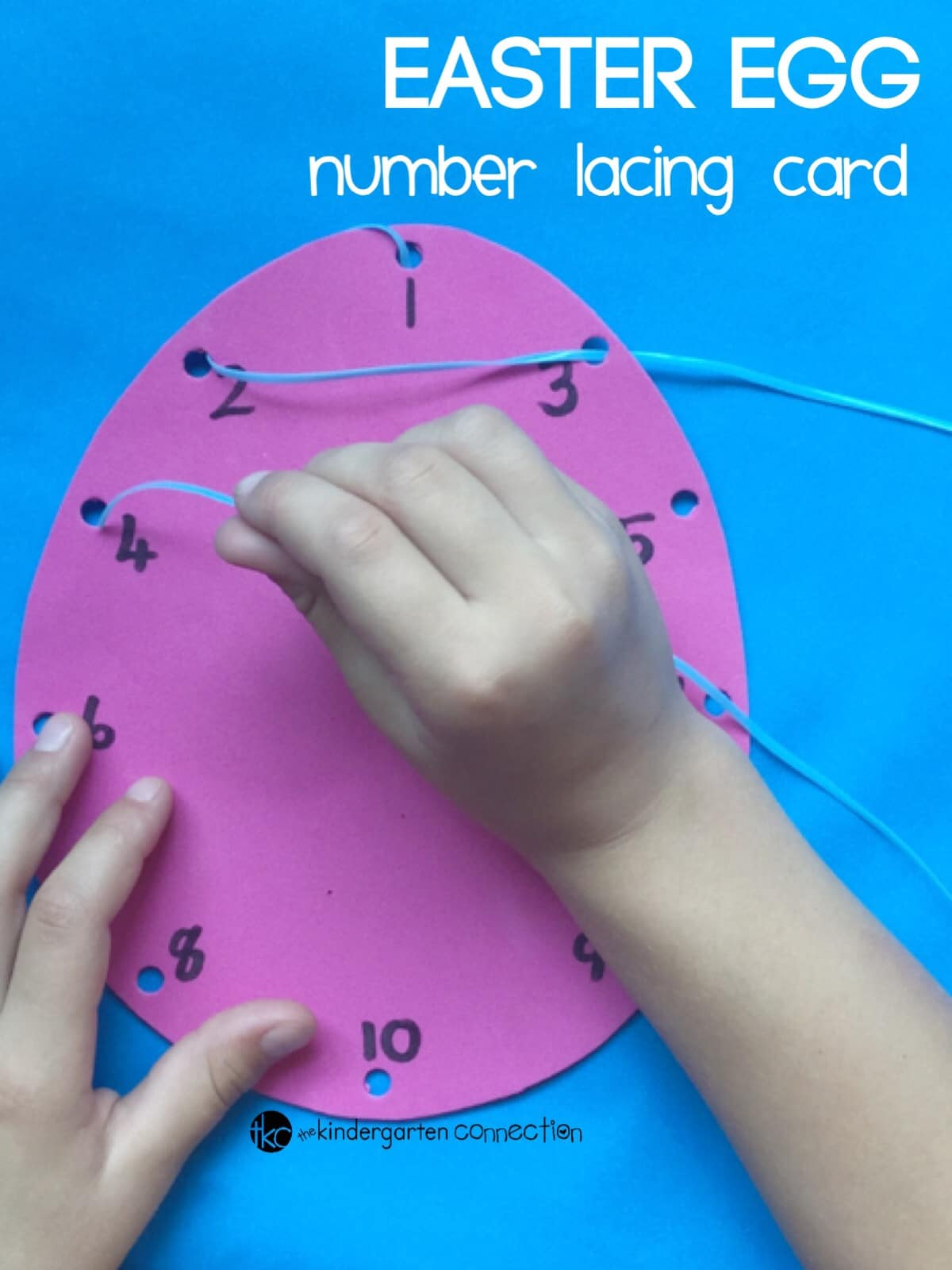 Work on fine motor skills and so much more with these easy DIY Easter egg lacing cards!