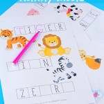 Missing Letters Activity Sheets