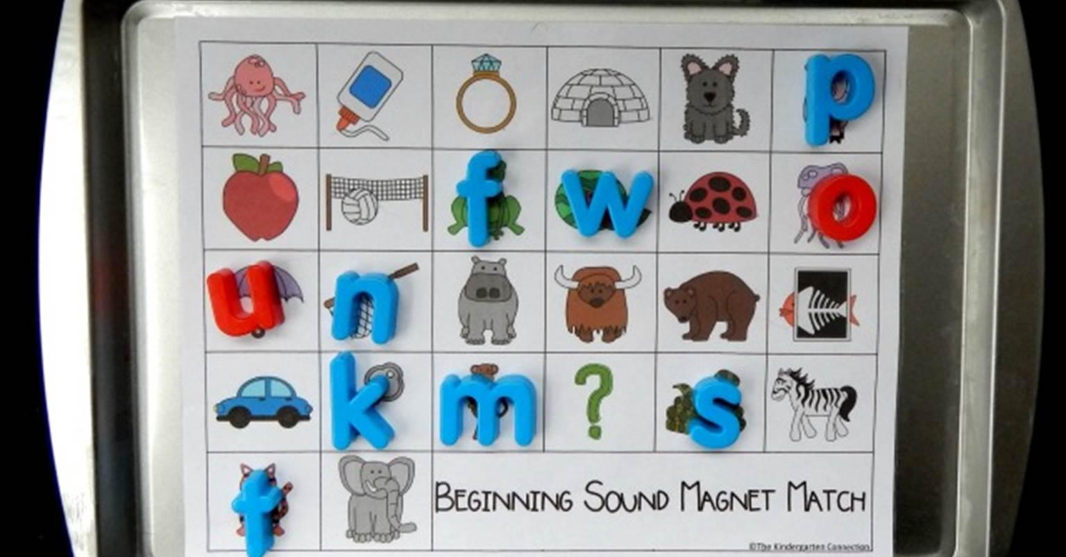 Alphabet Magnets Beginning Sound Match - The Kindergarten Connection