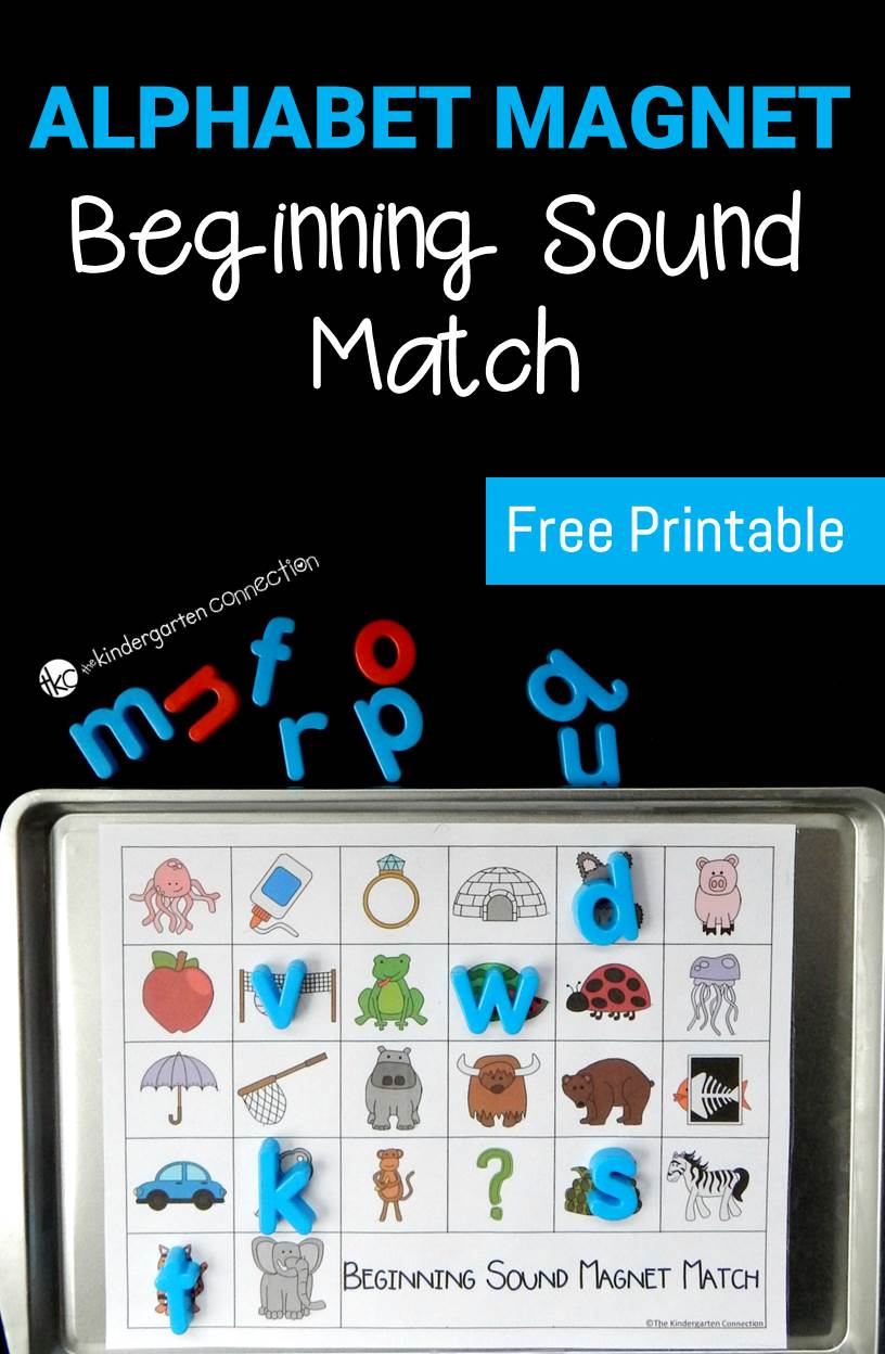 Alphabet Magnets Beginning Sound Match  The Kindergarten Connection