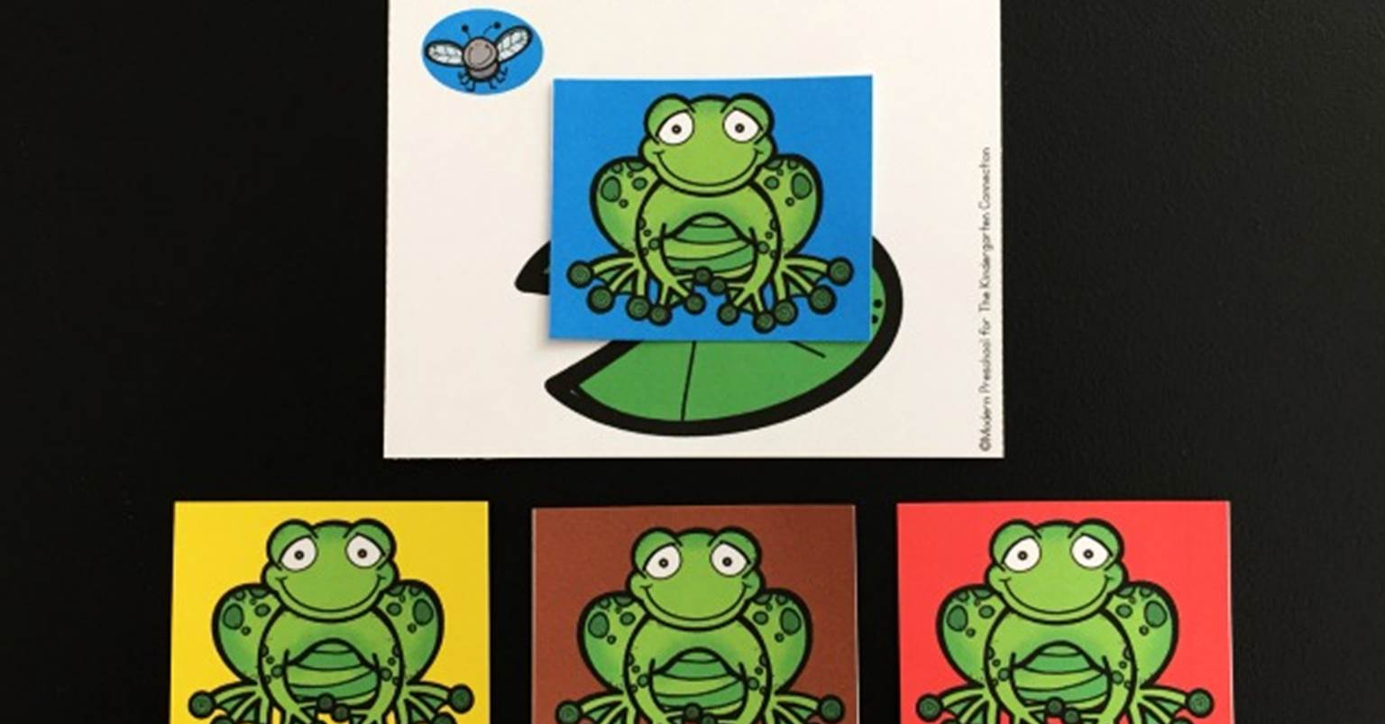 Color Matching Hungry Frogs - The Kindergarten Connection