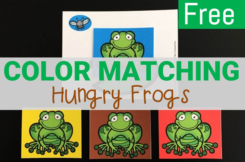 color matching hungry frogs center!