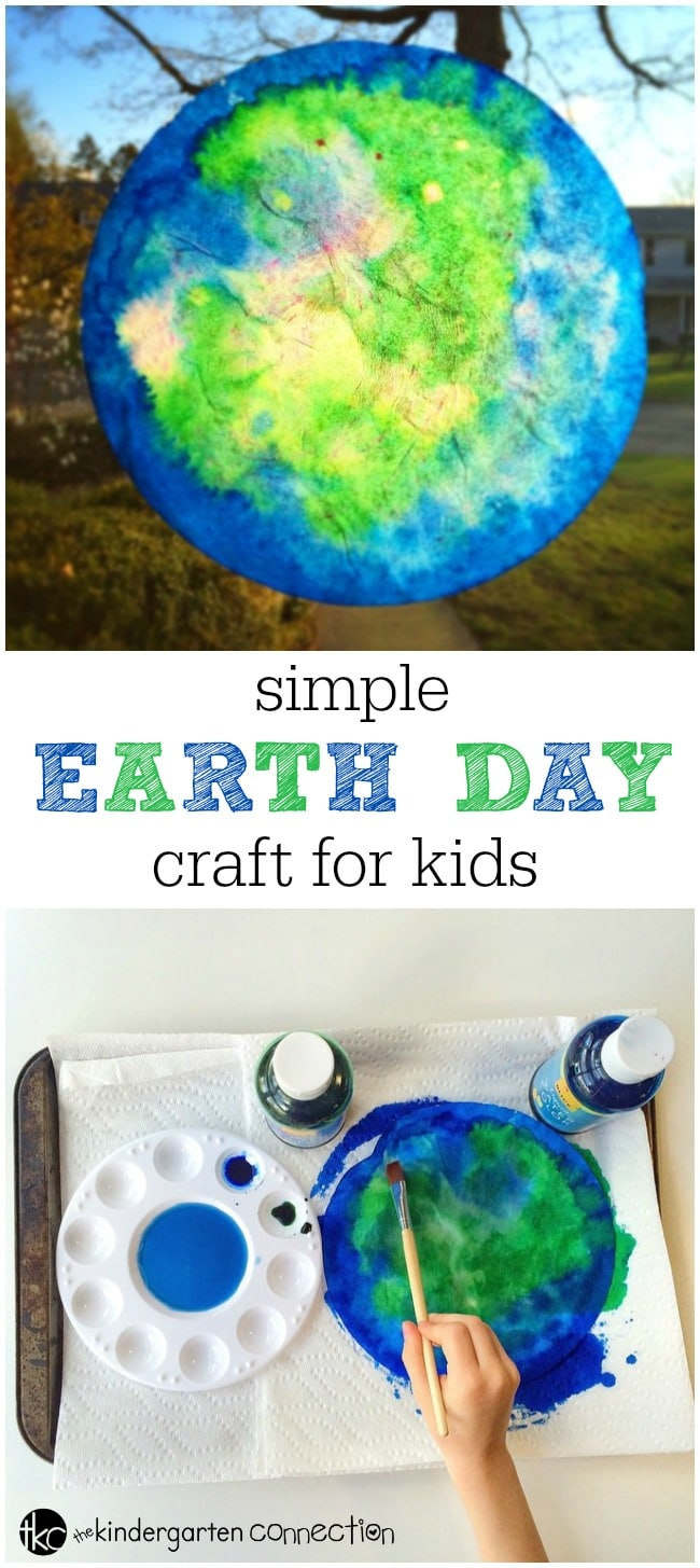 This Earth Day craft for kids is a fun, hands on art project that teaches kids about the structure earth's surface. They are a beautiful to display!