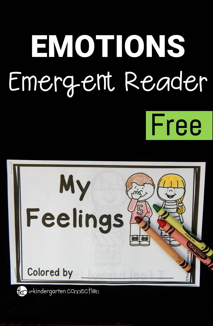 Grab our free Emotions Emergent Reader to help your kids learn to communicate their different feelings and emotions!