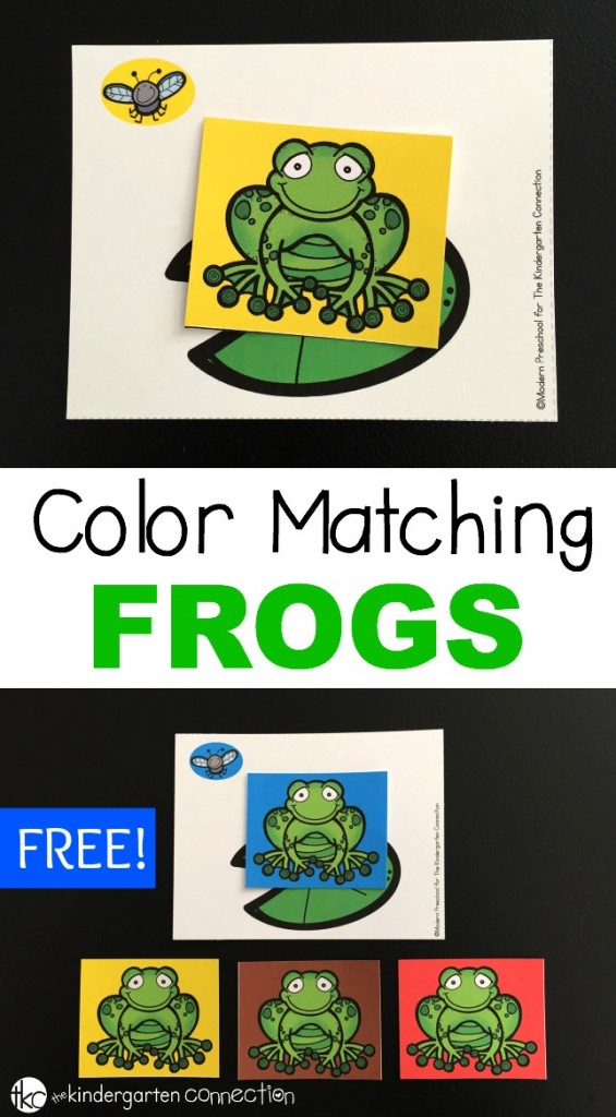 This fun and free color matching game is a perfect game for working on colors with your preschooler this spring! Learn colors and even build fine motor too!