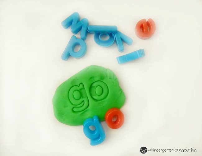 Making words with play dough is so fun! Work on the alphabet, sight words, spelling, and more with these must have simple tools for learning with play dough!