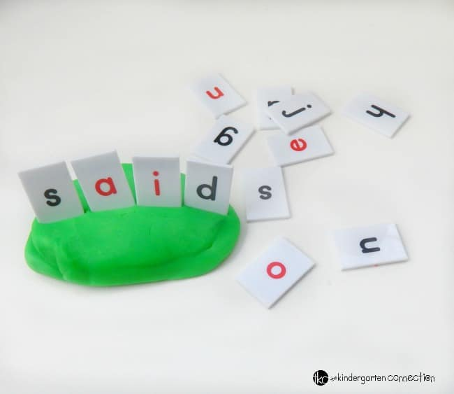 letter tiles simple tools for making words with play dough the kindergarten