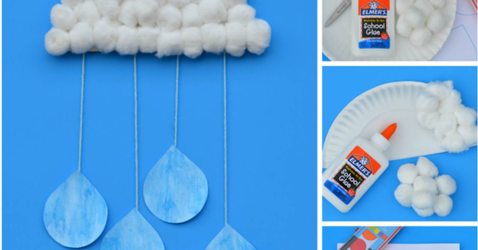 Rain Cloud Craft For Kids
