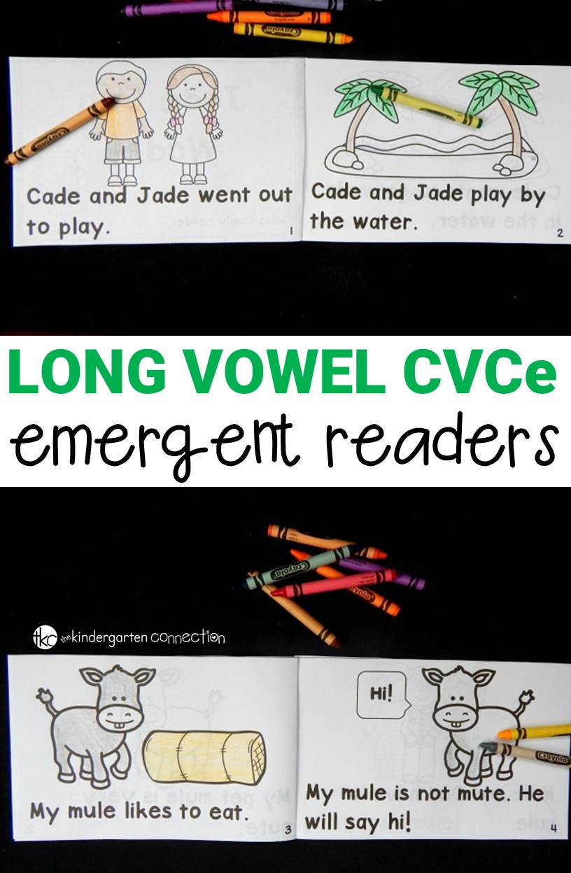 "These 17 long vowel CVCe emergent readers are great for practicing ""magic e"" words and sight words too! They are easy prep and perfect for early readers!"