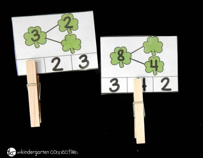 These math and literacy clip cards are perfect for kindergarten math this St. Patrick's Day and month of March! They work on tons of skills, and build up fine motor too!
