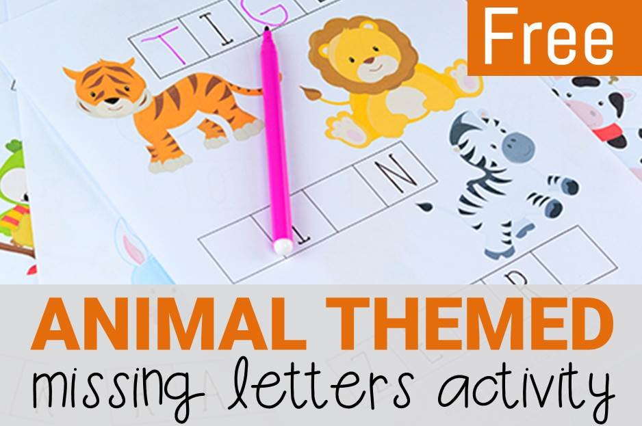 Animals Missing Letters Activity Sheets