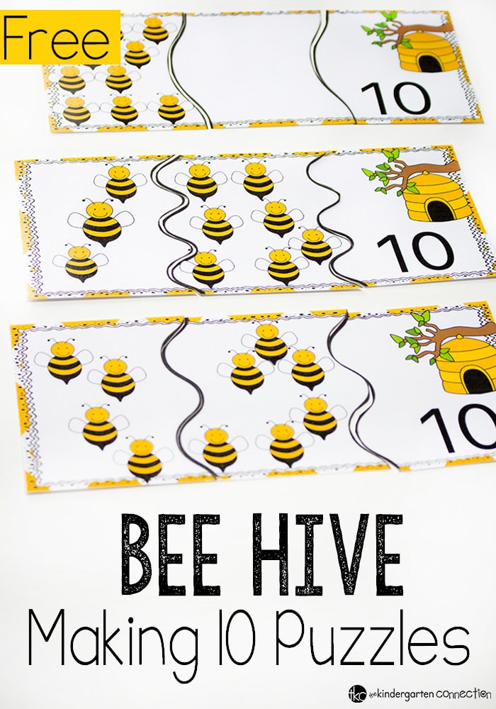 Beehive Puzzles for Making 10 - The Kindergarten Connection
