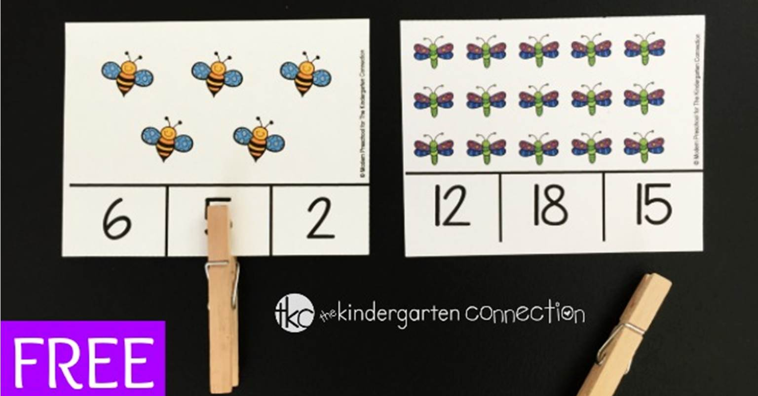 bug count and clip cards the kindergarten connection