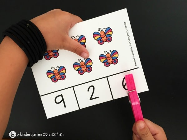 Work on counting, one to one correspondence, teen numbers, and fine motor too with these super fun bug themed count and clip cards!