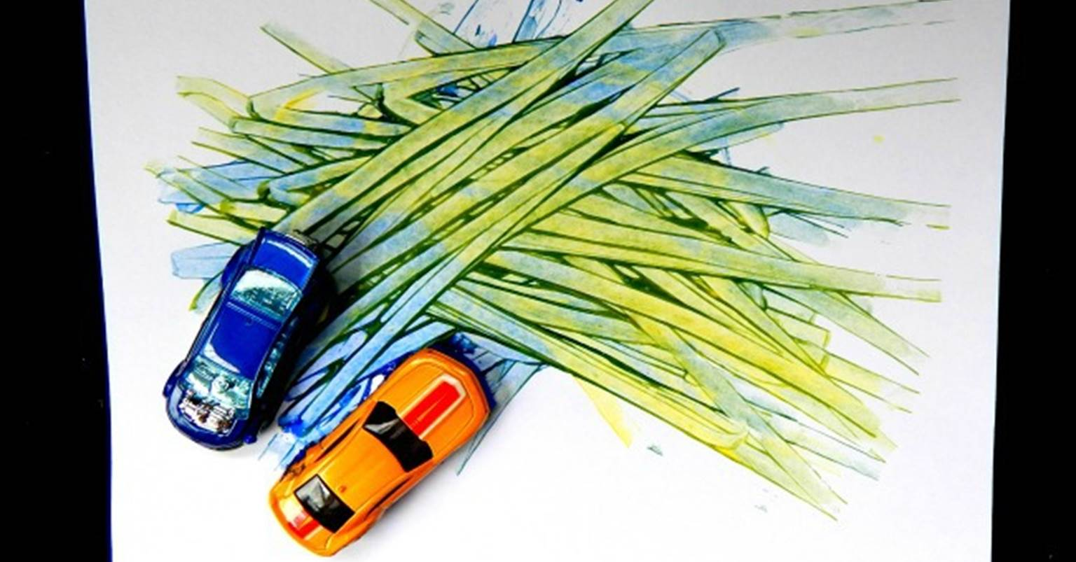 Color Mixing With Toy Cars - The Kindergarten Connection