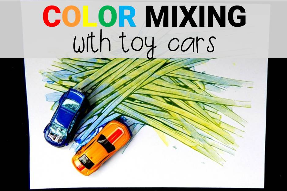 color mixing with toy cars main image