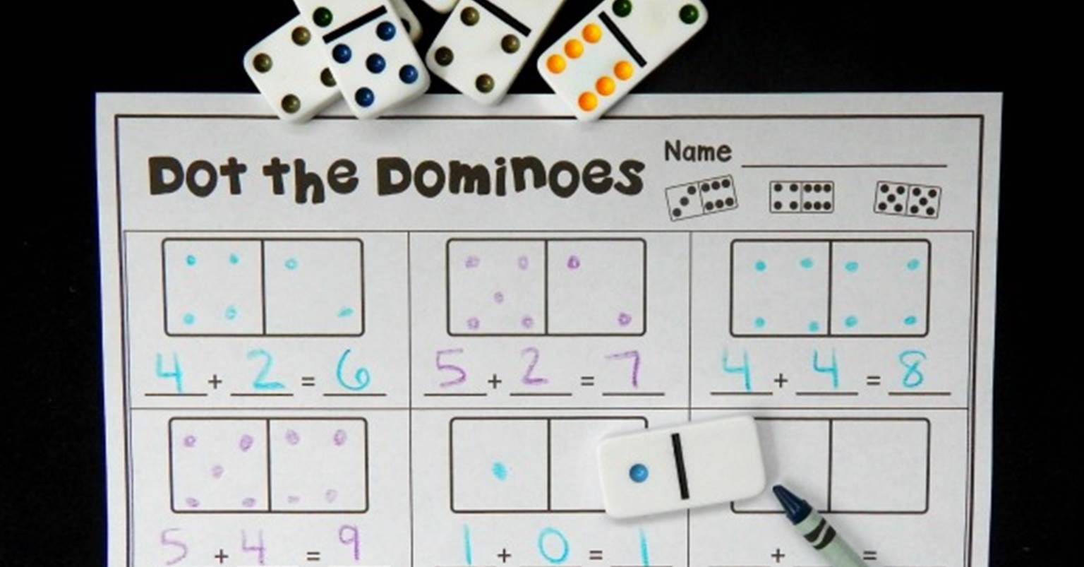domino addition the kindergarten connection