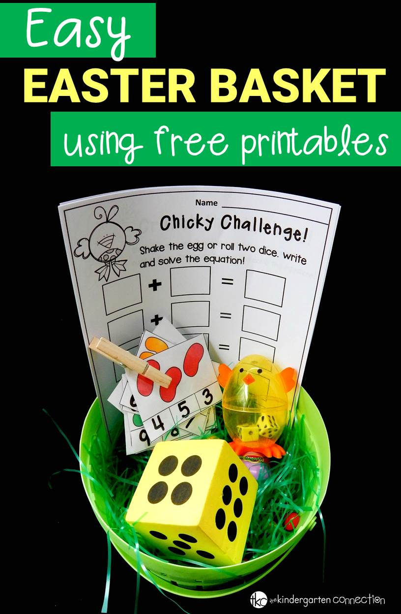 easy easter basket with free printables the kindergarten connection