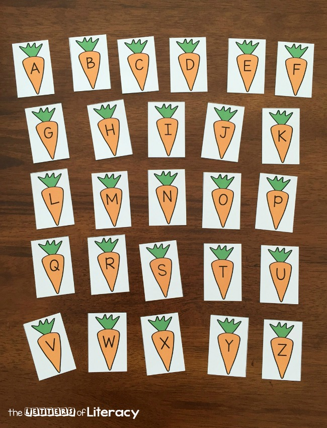 Spring is in the air with this hands on peas and carrots alphabet sensory bin! Match letters, work on names, or build words with these printable letters.