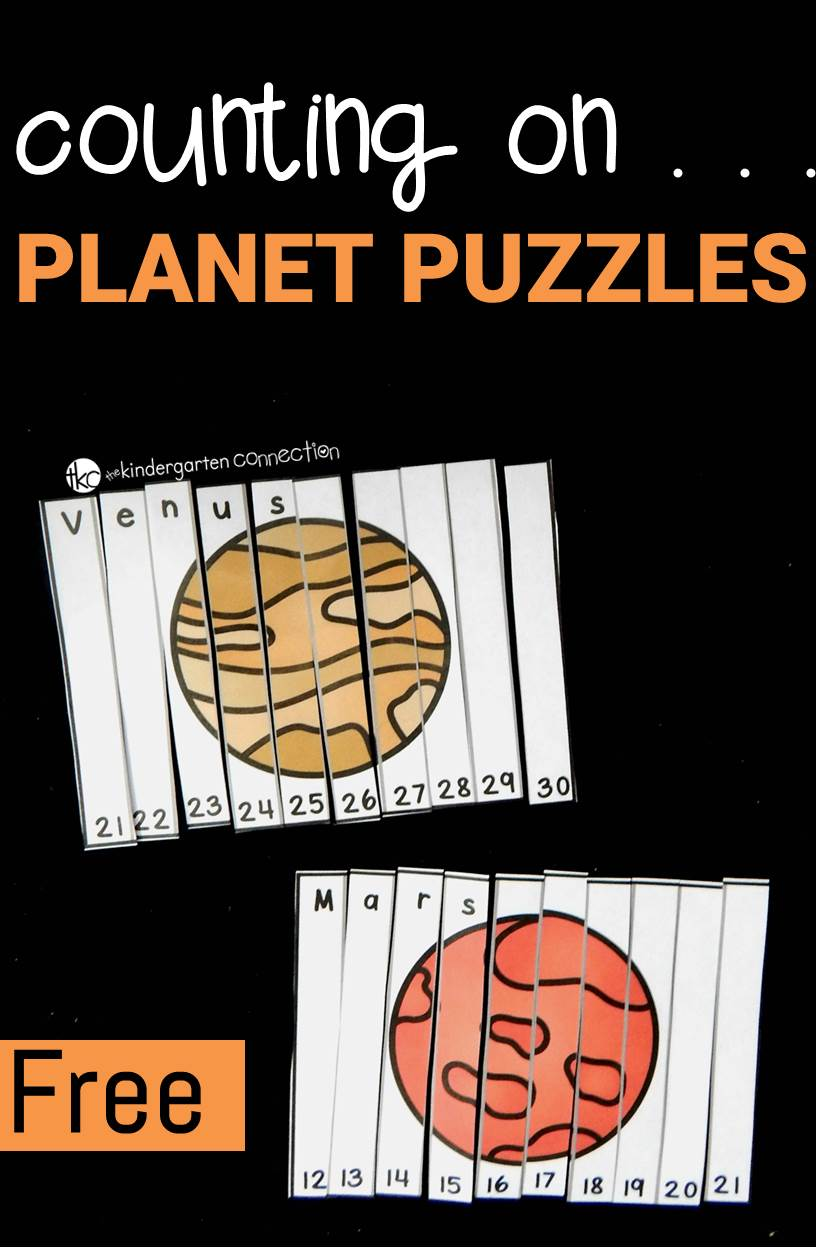 outer space facts for preschoolers counting on planet puzzles the kindergarten connection 398