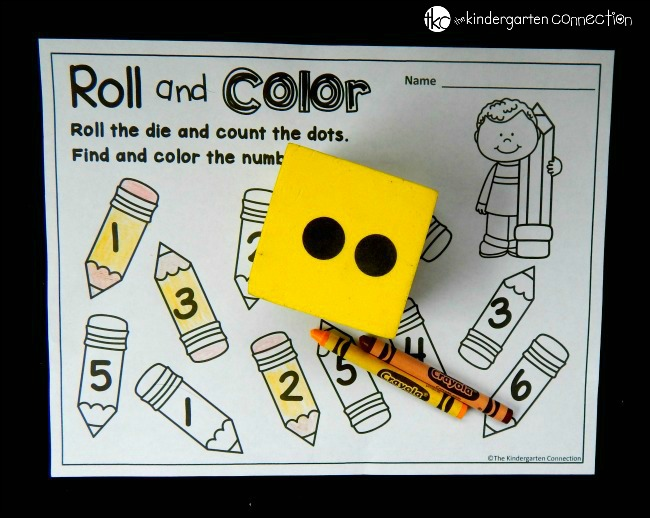 These roll and color dice games are perfect to use all year long! Work on number identification, addition, and subtraction too!